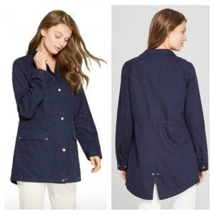 A New Day Convertible Twill Anorak Navy Jacket XS